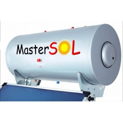 Ηλιακός Θερμοσίφωνας 120lt Mastersol Glass/Inox Επιλεκτικός 1,5τ.μ.