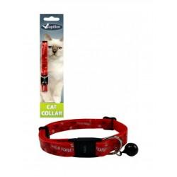 Ρυθμιζόμενο Κολάρο Για Γάτες  Σε Χρώμα Κόκκινο