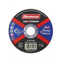 Benman Δίσκος Κοπής Σιδήρου & Inox MaxPower 125mm 74499 1τμχ